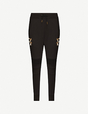 PUMA Puma x Balmain embellished stretch-jersey jogging bottoms