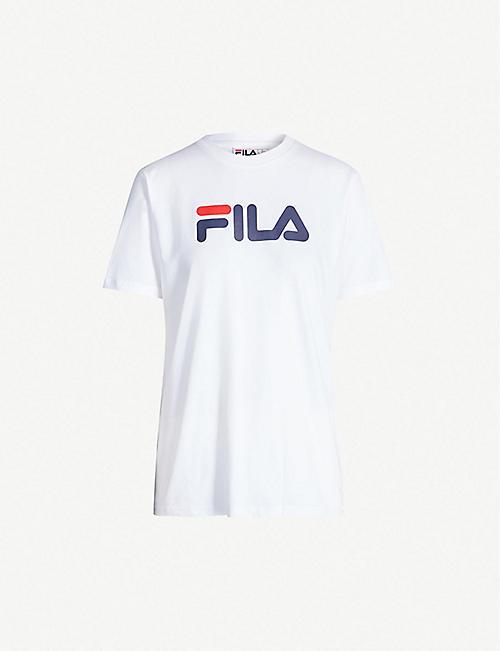 676fff95579 FILA Logo-print cotton T-shirt