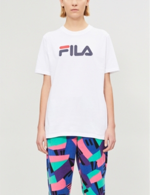 Fila LOGO-PRINT COTTON T-SHIRT