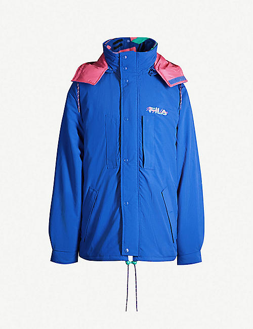 d27210e06230 FILA Contrast-lined multi-layered padded shell jacket