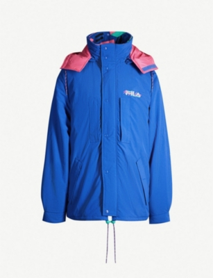 FILA Contrast-lined multi-layered padded shell jacket