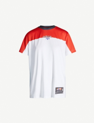 ADIDAS X ALEXANDER WANG Two-tone stretch-jersey T-shirt