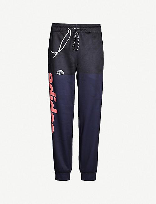 ADIDAS X ALEXANDER WANG adidas x Alexander Wang side-stripe stretch-jersey  jogging bottoms fcabbe7530