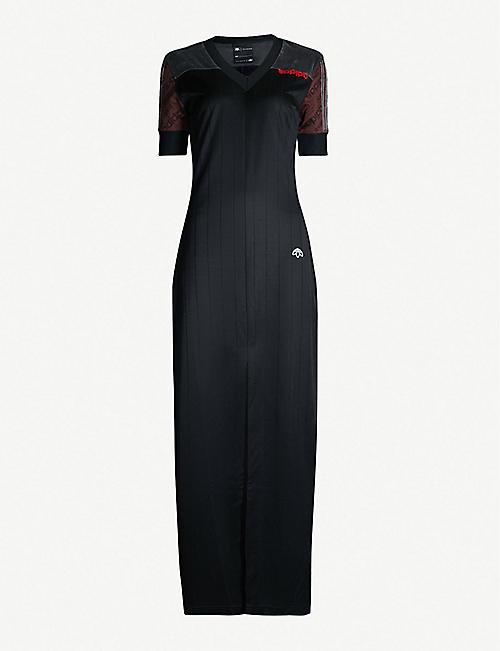 3953e68617d2 ADIDAS X ALEXANDER WANG Disjoin logo-embroidered jersey maxi dress