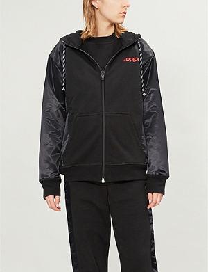 ADIDAS X ALEXANDER WANG - Logo-embroidered cotton-piqué sweatshirt ... 04d77917f6d40