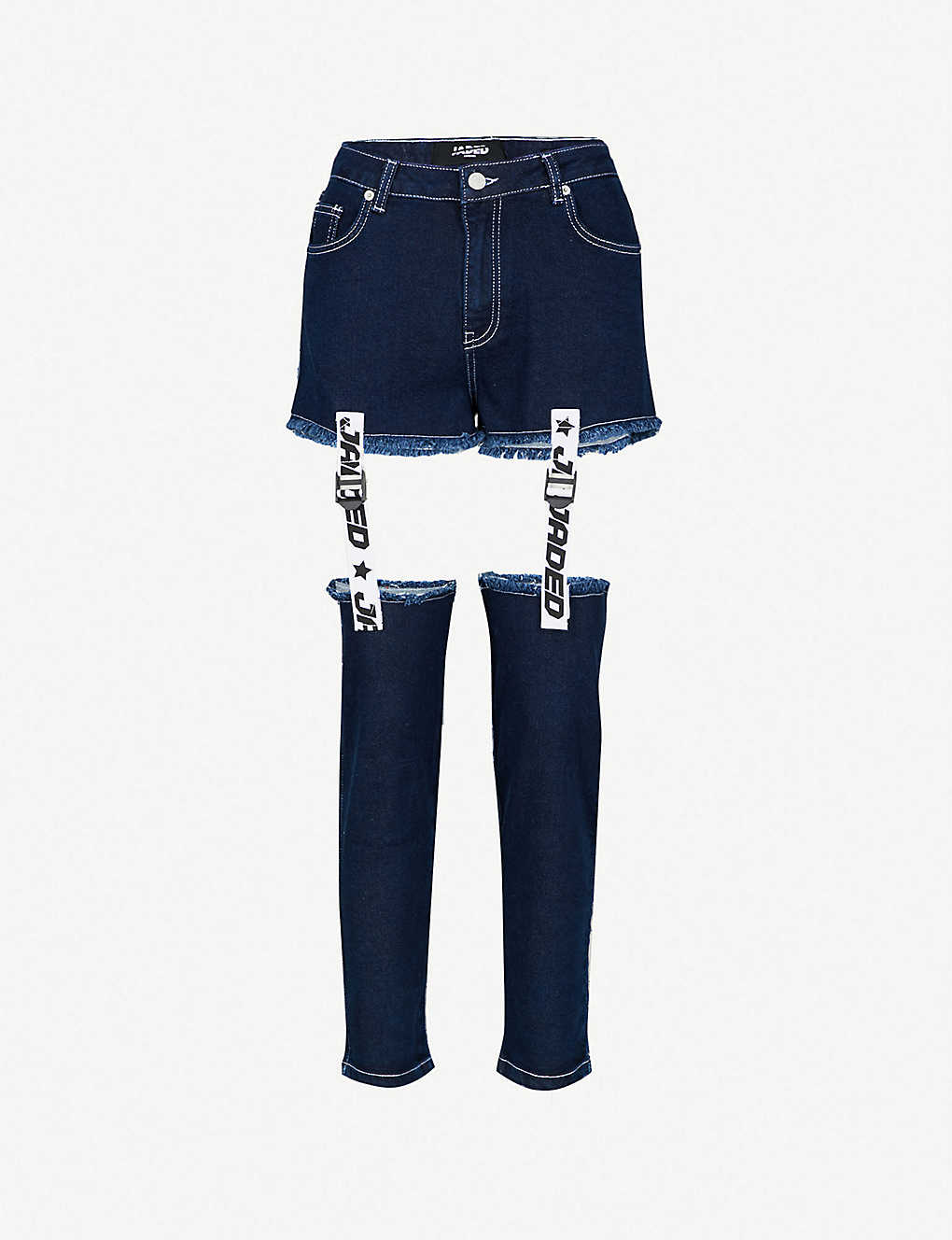 388139491bcc68 JADED LONDON - Tape   Buckle straight high-rise jeans