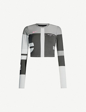 NIKE X OFF-WHITE Easy Run stretch-jersey top