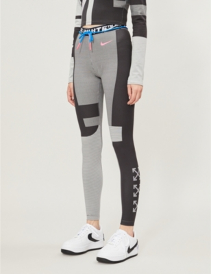 ef1159752 NIKE X OFF-WHITE - Easy Run stretch-jersey leggings | Selfridges.com