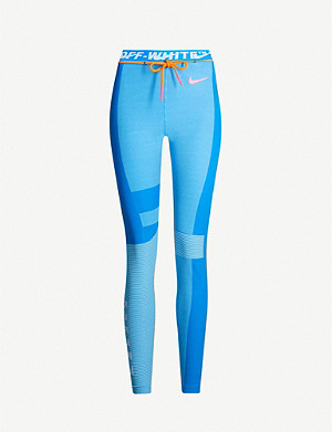 nouvelle arrivée hot-vente plus récent 60% pas cher NIKE X OFF-WHITE - Easy Run stretch-jersey leggings ...