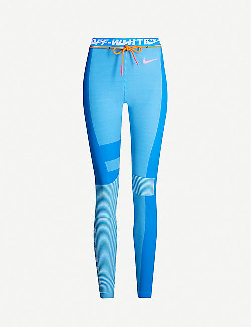 NIKE X OFF-WHITE Easy Run stretch-jersey leggings