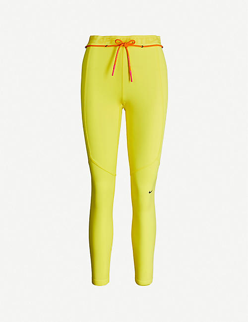 NIKE X OFF-WHITE Tight Utility branded-waistband stretch-woven leggings