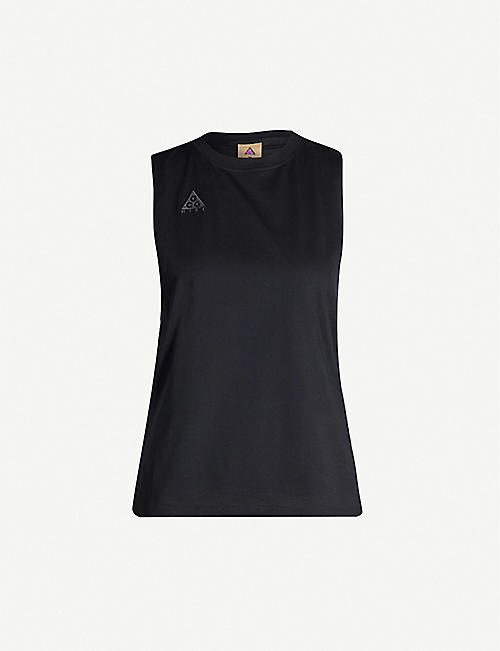 NIKE ACG Logo-embroidered sleeveless cotton-blend top