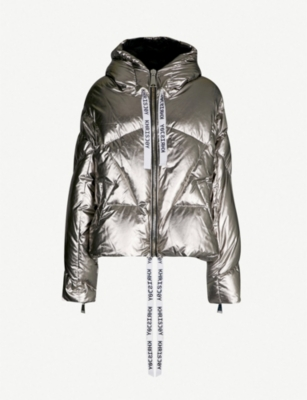 KHRISJOY Metallic shell-down puffer jacket