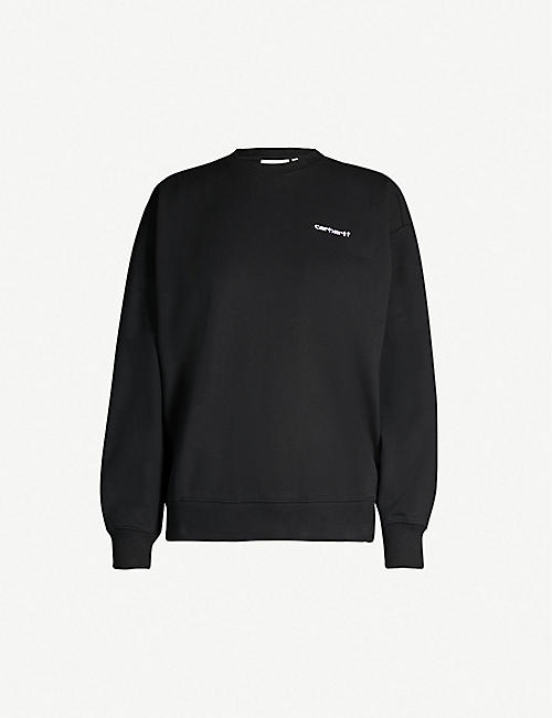 CARHARTT WIP Oversized logo-embroidered jersey sweatshirt