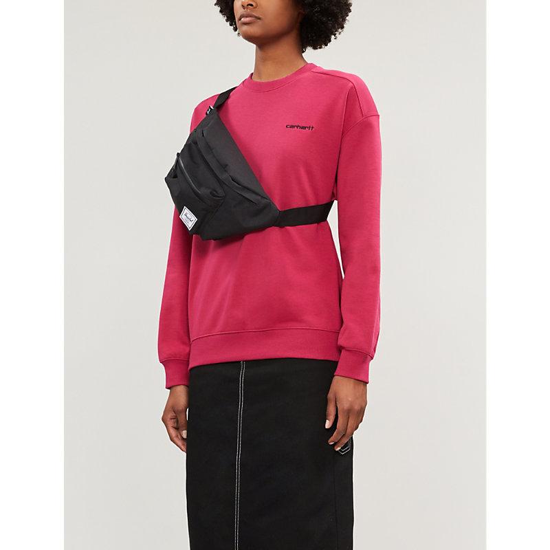 CARHARTT   Oversized Logo-Embroidered Jersey Sweatshirt   Goxip