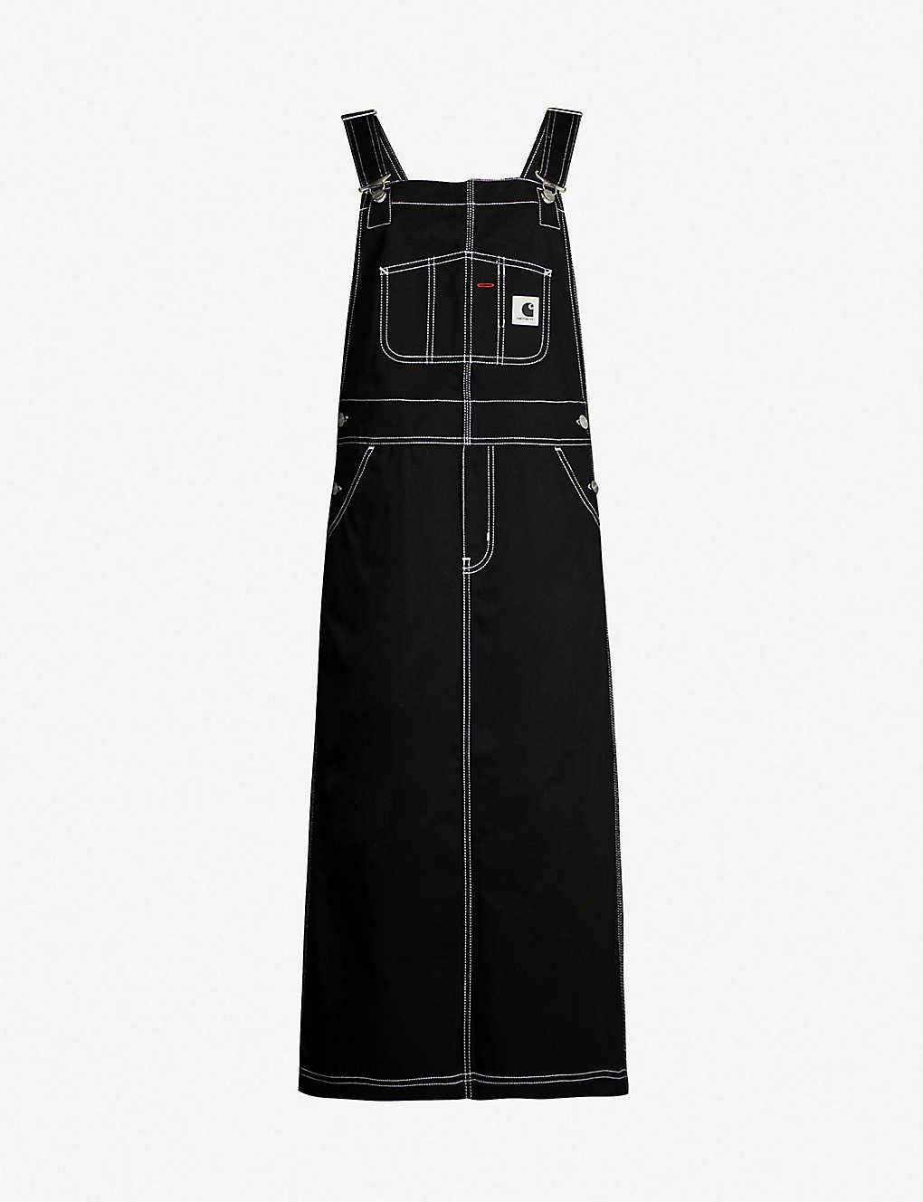 1e6ca9f1253ca CARHARTT WIP - W' Bib branded denim overall dress | Selfridges.com