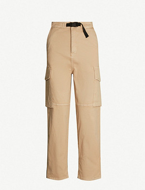 CARHARTT WIP W'Luton mid-rise straight-leg stretch-cotton trousers