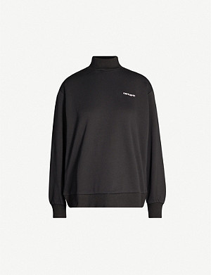 CARHARTT WIP Script logo-embroidered cotton-jersey sweatshirt