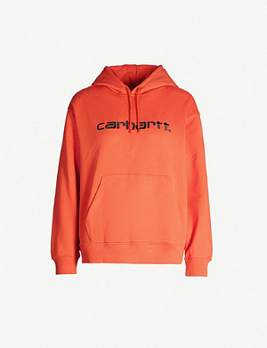 CARHARTT WIP Logo-embroidered cotton-jersey drawstring hoody