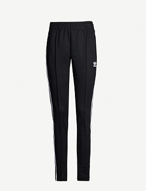 ADIDAS ORIGINALS Trefoil stretch-jersey jogging bottoms