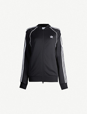 ADIDAS ORIGINALS Trefoil cotton-blend jacket