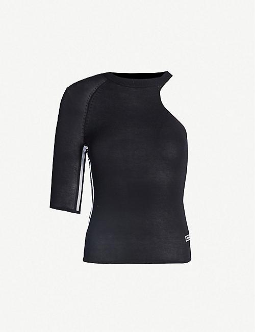 1084042b9b ADIDAS ORIGINALS One-shoulder knitted T-shirt