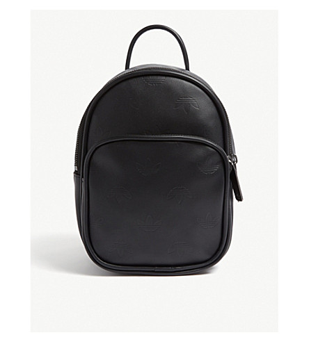 ... ADIDAS ORIGINALS Embossed logo mini leather backpack (Black.  PreviousNext c01e4c75390bd