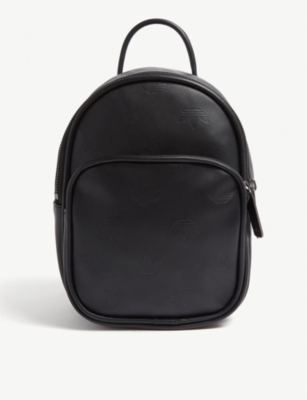 ADIDAS ORIGINALS Embossed logo mini leather backpack