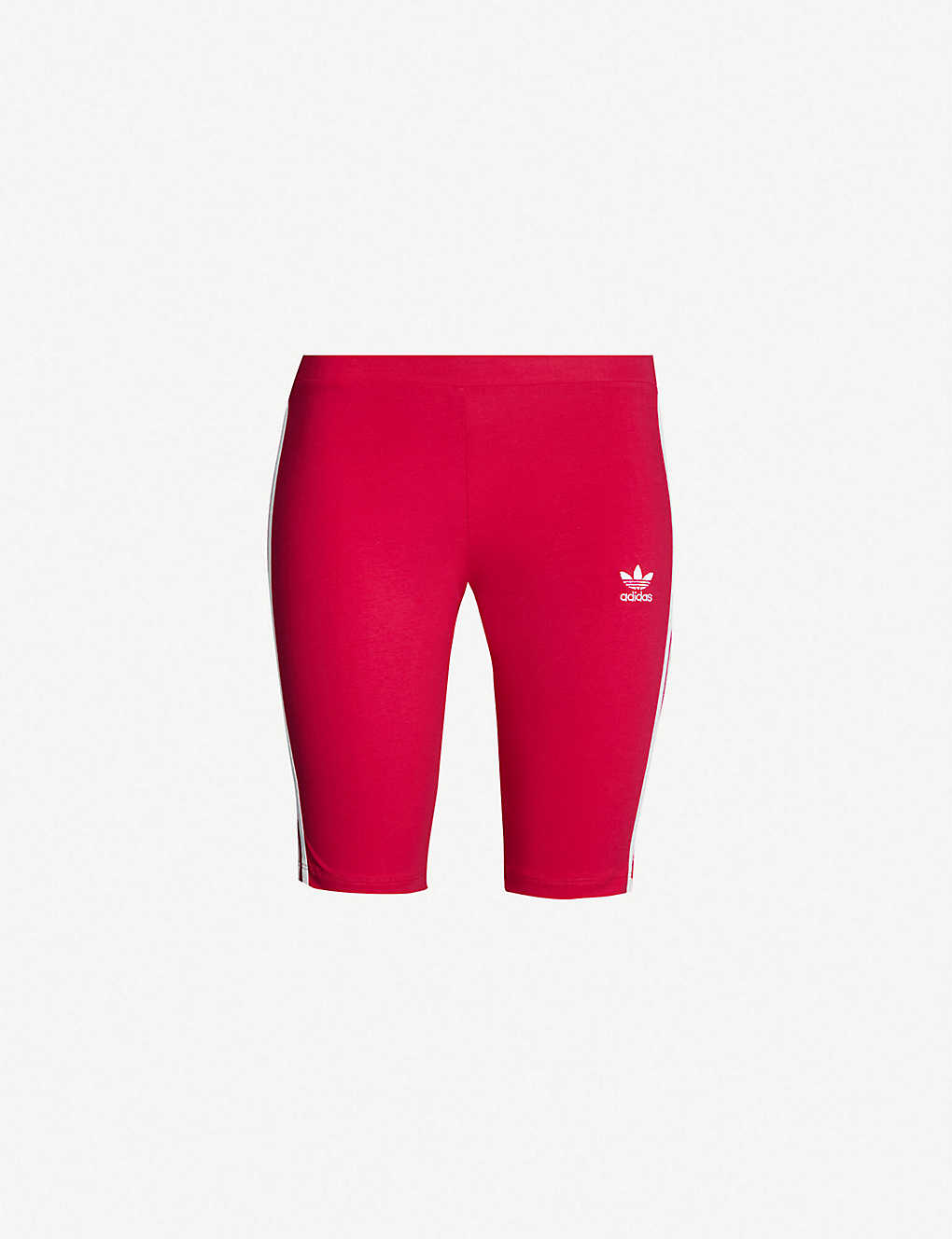 394302ab332a1 ADIDAS ORIGINALS - Logo-embroidered cotton-jersey cycling shorts ...