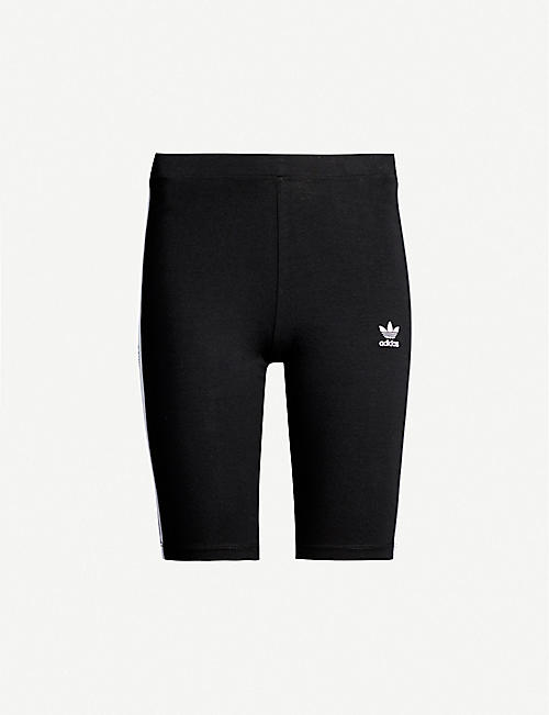 ADIDAS ORIGINALS Logo-embroidered stretch-cotton cycling shorts