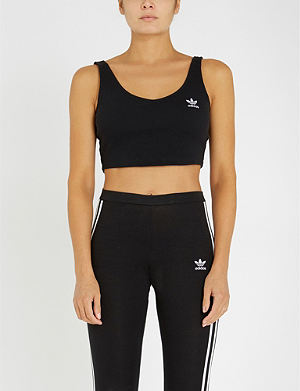7d7986cf70 ADIDAS ORIGINALS - Styling Complements stretch-cotton sports bra ...