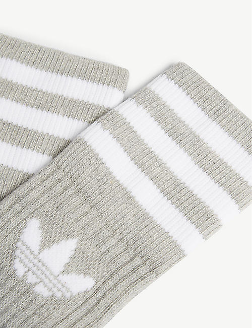 ADIDAS ORIGINALS Cotton-blend crew socks pack of two