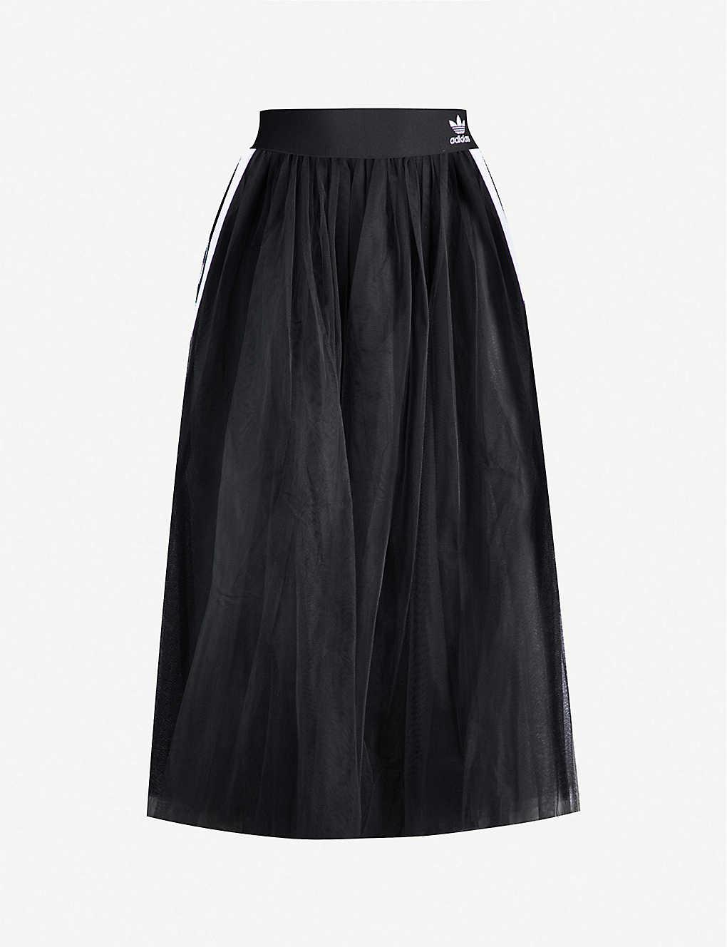 795f6a689e ADIDAS ORIGINALS - 3-stripe semi-sheer tulle midi skirt | Selfridges.com