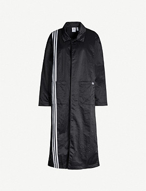 ADIDAS ORIGINALS 3-Stripes crinkled-shell coat