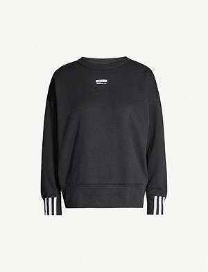 ADIDAS ORIGINALS Branded cotton-jersey sweatshirt