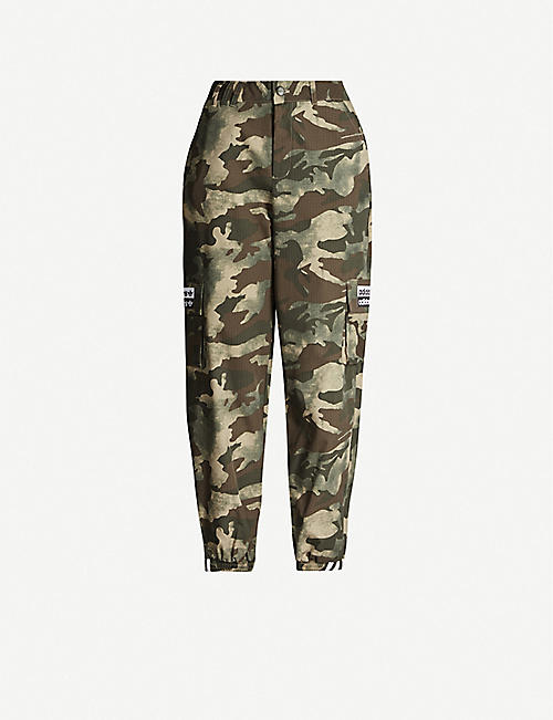 ADIDAS ORIGINALS Camouflage-print shell trousers