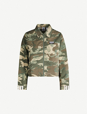 ADIDAS ORIGINALS Camouflage-print shell jacket