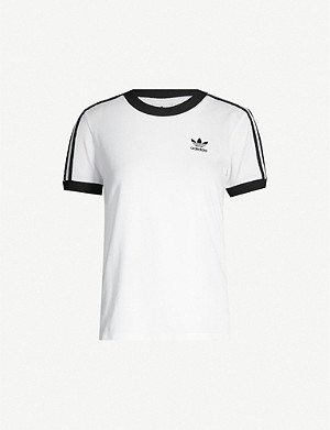 ADIDAS ORIGINALS Striped cotton-jersey T-shirt
