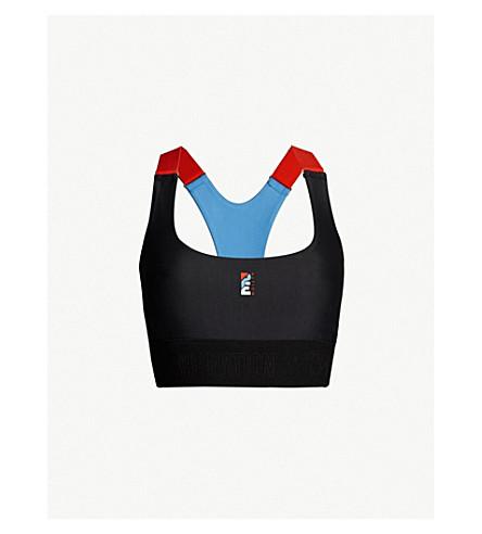 535578ea11384 P.E NATION Forecourt stretch-jersey crop top (Black blue
