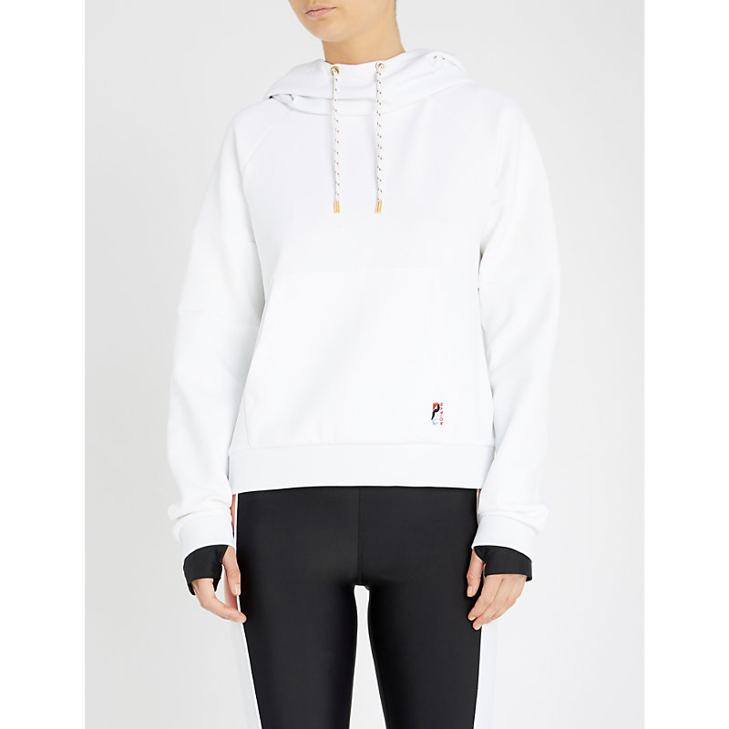 P.e Nation THE DEFENDER ACE STRETCH-JERSEY HOODY