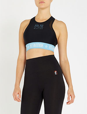 9431ba845cf0f P.E NATION Figure Four stretch-jersey sports bra
