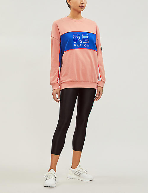 P.E NATION Sonic contrast-panel cotton sweatshirt