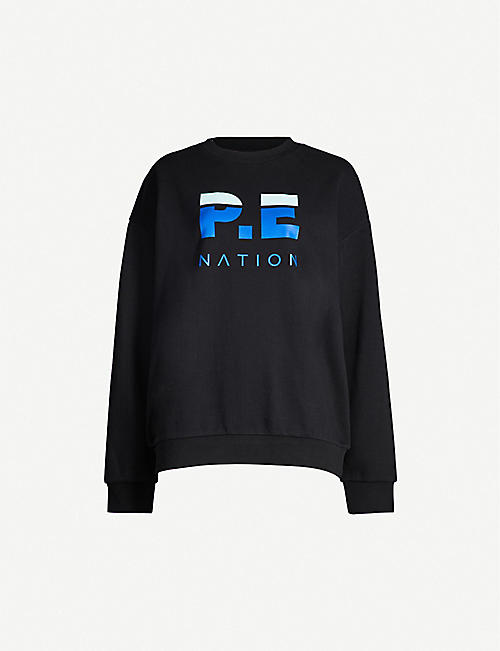 P.E NATION Heads Round branded cotton jersey sweatshirt