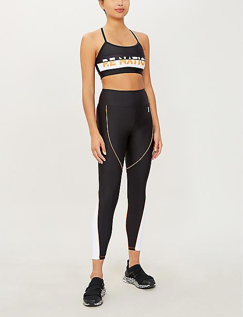 81fa96f6c97d7 P.E NATION Trackbar stretch-jersey leggings. Quick Shop