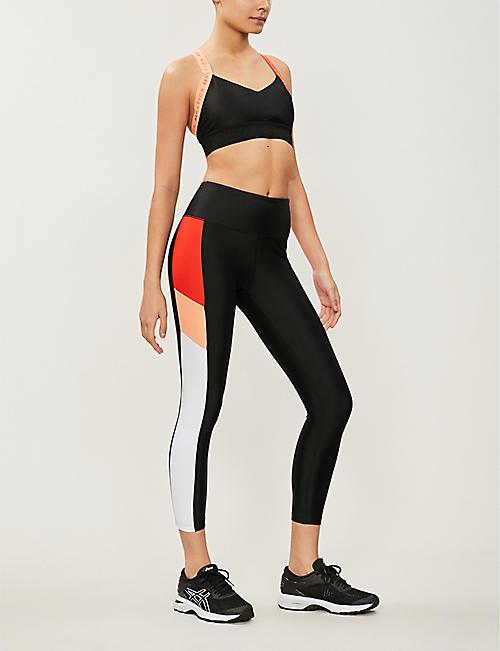 d71307b87a2e2 P.E NATION First Limit contrast-panel stretch-jersey leggings. Quick Shop