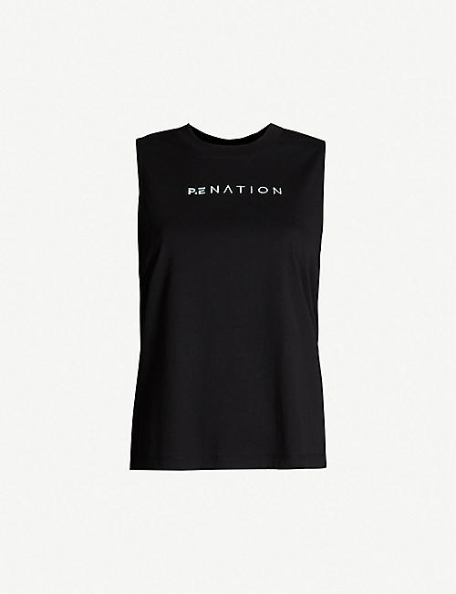 P.E NATION Lead Force cotton tank top