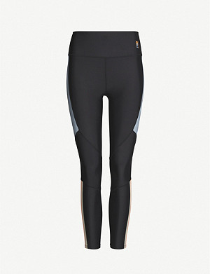 P.E NATION Alpine high-rise panelled jersey leggings
