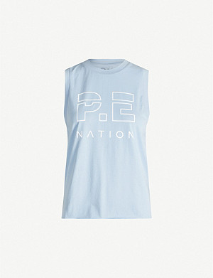 P.E NATION Shuffle cotton-jersey top