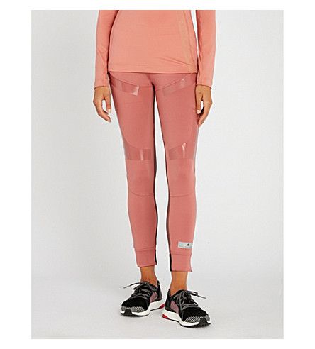 Run Ultra Jersey Leggings, Coffee Rose