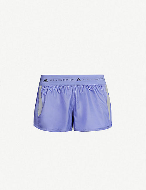 df045cc108 ADIDAS BY STELLA MCCARTNEY Logo-waist perforated-panel shell shorts